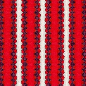 Red Lace Stripe