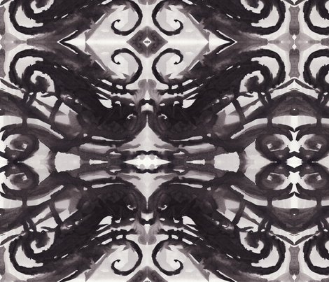 Ink Curls fabric by art_rat on Spoonflower - custom fabric