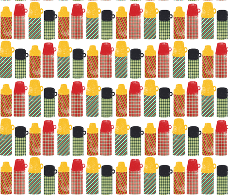 Thermos Stripe fabric by heidikenney on Spoonflower - custom fabric
