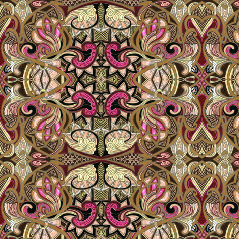 Love, Victorian Style (small size) fabric by edsel2084 on Spoonflower - custom fabric