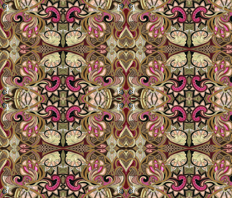 Love, Victorian Style (large size) fabric by edsel2084 on Spoonflower - custom fabric