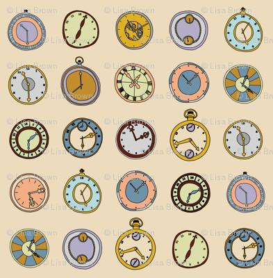 hand drawn clocks