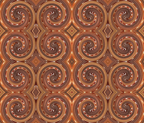 Cinnamon Swirl fabric by anniedeb on Spoonflower - custom fabric