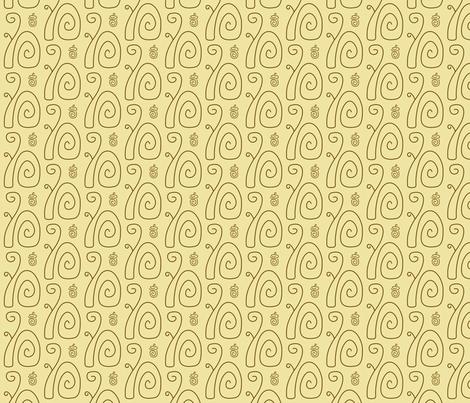 Swirly Squirrels fabric by modgeek on Spoonflower - custom fabric