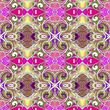 Bright Hearts Peasant Dance fabric by edsel2084 on Spoonflower - custom fabric