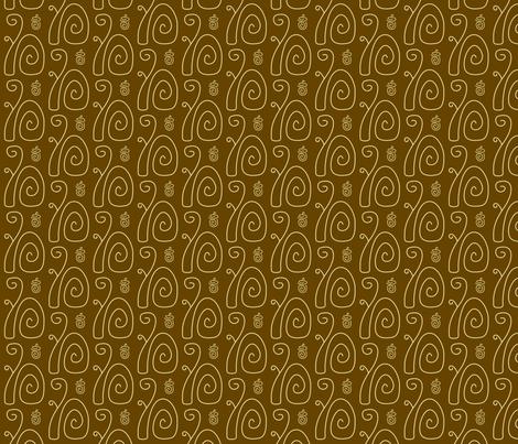 Swirly Squirrels Brown fabric by modgeek on Spoonflower - custom fabric