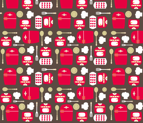 Let's Play Kitchen fabric by natitys on Spoonflower - custom fabric