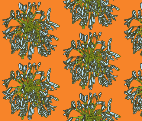 BAUER - Tropical Light Blue Flowers fabric by scatteredseeds on Spoonflower - custom fabric