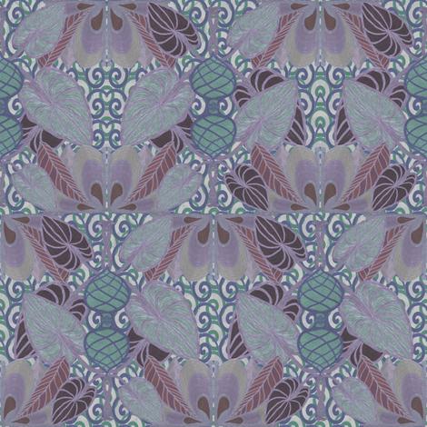 Twilight In a Persian garden fabric by su_g on Spoonflower - custom fabric