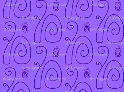 Swirly Squirrels Lavender