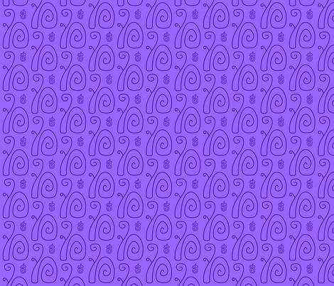 Swirly Squirrels Lavender fabric by modgeek on Spoonflower - custom fabric