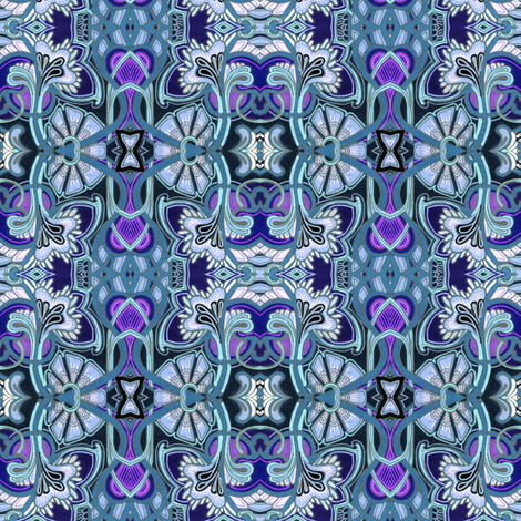 Frosty Blues fabric by edsel2084 on Spoonflower - custom fabric