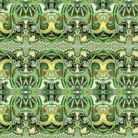 Primitively Green fabric by edsel2084 on Spoonflower - custom fabric