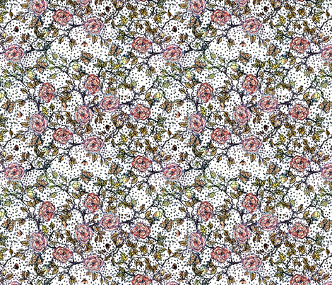 Memories of an Old Rose-bright fabric by glimmericks on Spoonflower - custom fabric