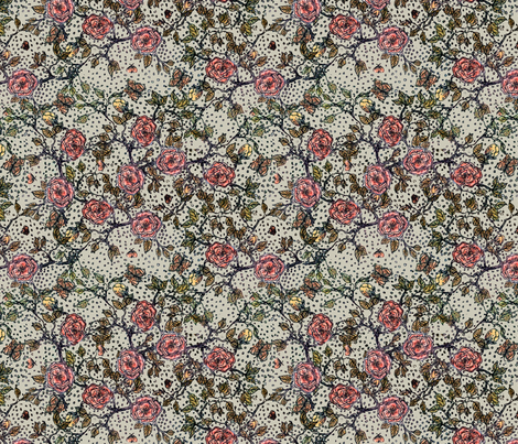 Memories of an Old Rose-Fresh fabric by glimmericks on Spoonflower - custom fabric