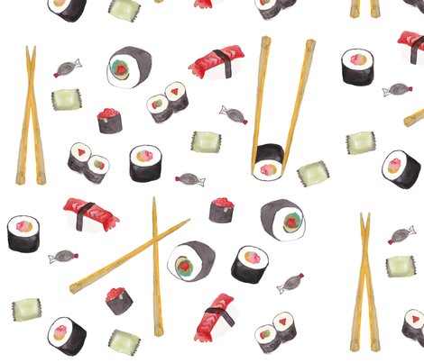 sushi-print fabric by brittanyferns on Spoonflower - custom fabric