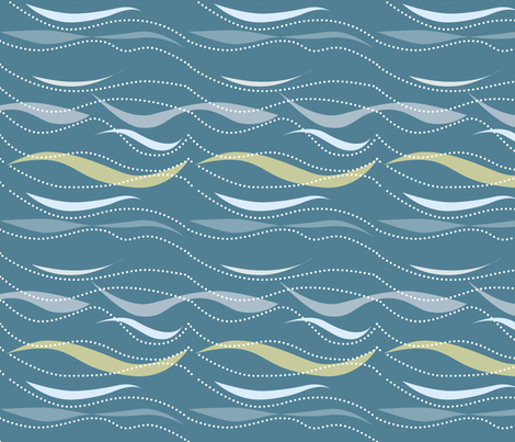 waves beachside fabric by creative_merritt on Spoonflower - custom fabric