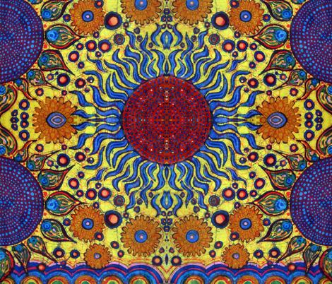 Fireballs fabric by hooeybatiks on Spoonflower - custom fabric