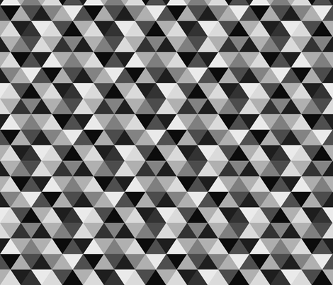 Triangles and Hidden Diamonds - Grays fabric by jesseesuem on Spoonflower - custom fabric
