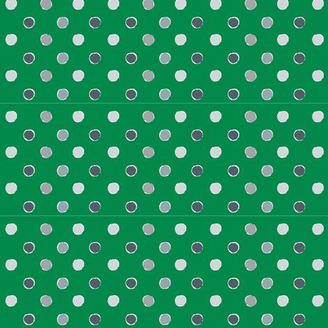 Green Polka Dot fabric by kelly_ventura on Spoonflower - custom fabric