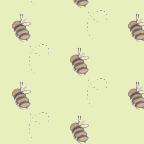 Buzz Bee yellow fabric by hahnlm on Spoonflower - custom fabric
