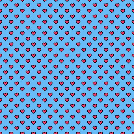 Comic Book Hearts fabric by siya on Spoonflower - custom fabric
