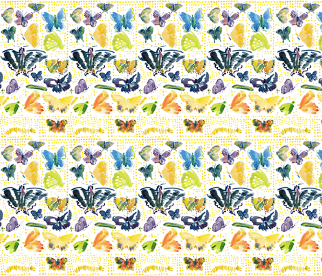 cestlaviv_butterflies fabric by cest_la_viv on Spoonflower - custom fabric