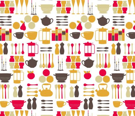 kitchen stuff fabric by lfntextiles on Spoonflower - custom fabric