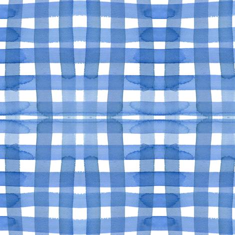 c'est la viv_sky gingham fabric by cest_la_viv on Spoonflower - custom fabric