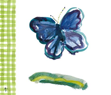 c'est la viv_spring butterfly picnic fabric by cest_la_viv on Spoonflower - custom fabric