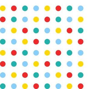 Multicoloured spots