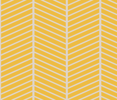 Gold Chevron Outline fabric by mgterry on Spoonflower - custom fabric