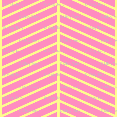 Pink and Yellow Chevron