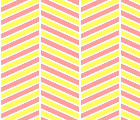 Pink and Yellow Chevron fabric by mgterry on Spoonflower - custom fabric