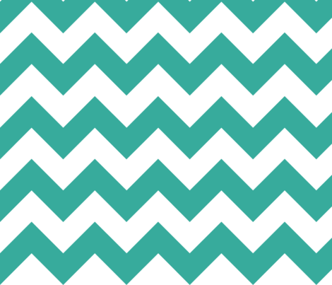 Teal Chevron fabric by megankaydesign on Spoonflower - custom fabric