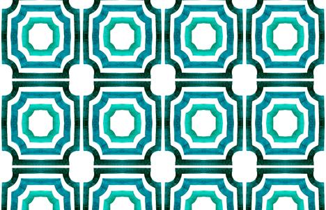 cestlaviv_ Lattice Slate fabric by cest_la_viv on Spoonflower - custom fabric