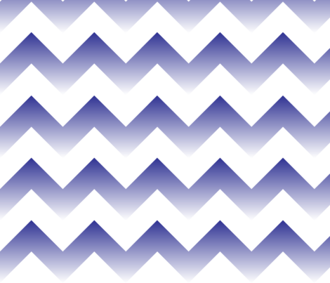 Blue to White Ombre Chevron fabric by megankaydesign on Spoonflower - custom fabric