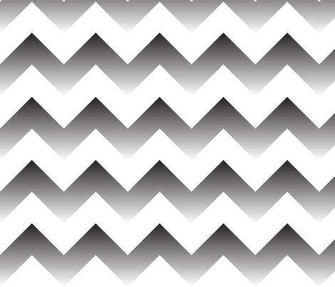 Black to white Ombre Chevron fabric by megankaydesign on Spoonflower - custom fabric