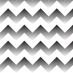 Black to white Ombre Chevron
