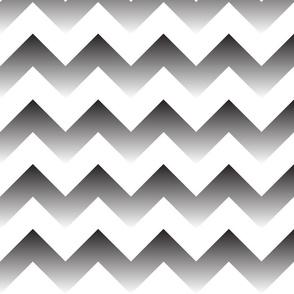 Black to white Ombre Chevron
