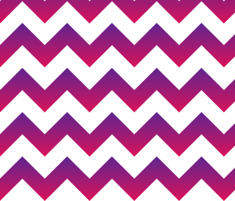 Purple To Pink Ombre Chevron Fabric By Gates And Gables On Spoonflower