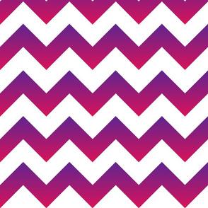 Purple to Pink Ombre Chevron