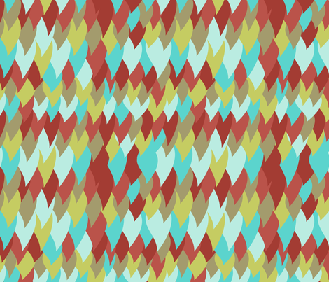 Feathers fabric by mgterry on Spoonflower - custom fabric