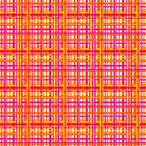 CurlyPops - Linear in Tangerine fabric by curlypops on Spoonflower - custom fabric