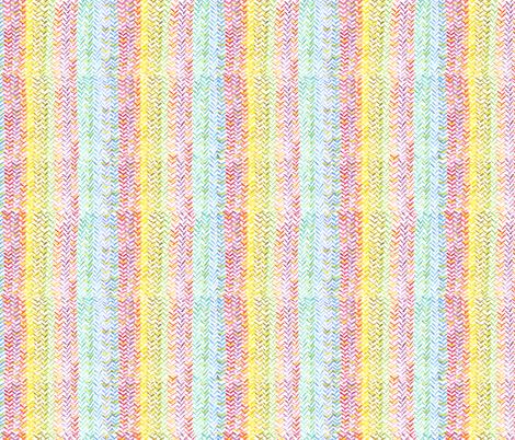 Rainbow Herringbone fabric by georgenasenior on Spoonflower - custom fabric