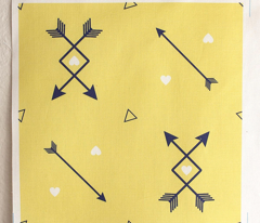 Crisscross Arrows and Hearts