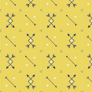 Crisscross Arrows and Hearts