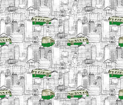 Boston T Ride fabric by nicoletamarin on Spoonflower - custom fabric