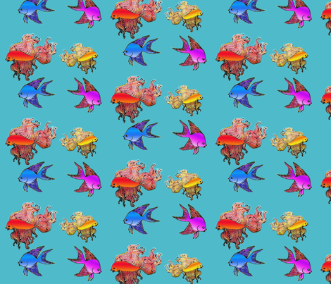 exotic_fishes fabric by vinkeli on Spoonflower - custom fabric