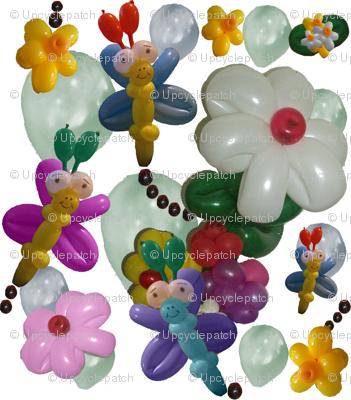 Balloon Flowers and Butterflies